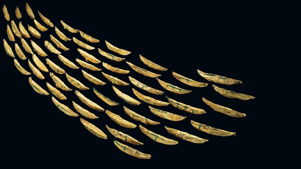 Die Goldschiffchen von Nors, Dänemark. © Nationalmuseet, Juraj Lipták.