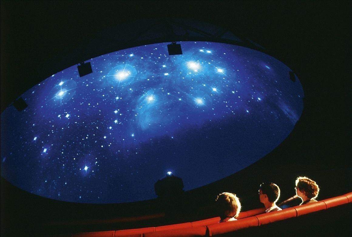 Ein Blick in das Planetarium der Arche Nebra. © Landesamt für Denkmalpflege und Archäologie Sachsen-Anhalt, Juraj Lipták.