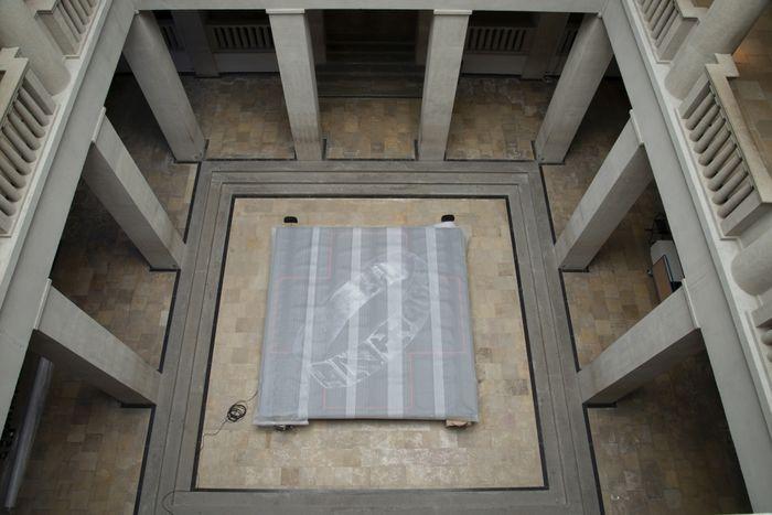 Die Bannung der Ring-Macht durch Abdeckung. Wir sind gespannt auf die Zentralinstallation! © Landesamt für Denkmalpflege und Archäologie Sachsen-Anhalt.