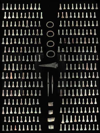 Der Hortfund von Dieskau mit seinen 293 Bronzebeilen gehört zur einzigartigen Hortfundlandschaft an der mittleren Saale nahe Halle (Saale). © Landesamt für Denkmalpflege und Archäologie Sachsen-Anhalt, Juraj Lipták.