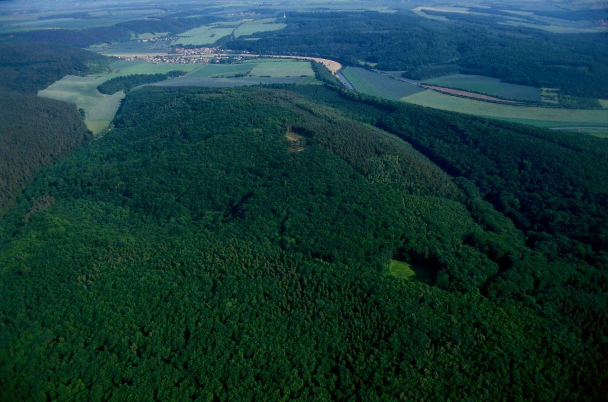 Der Mittelberg, Fundort der Himmelsscheibe von Nebra. © Gert Pie.