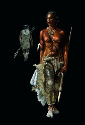 Um 40.000 v. Chr.: Der Neandertaler entschwindet in die Tiefen der Geschichte, der Jetztmensch betritt die Lebensbühne in Mitteleuropa. © Landesamt für Denkmalpflege und Archäologie Sachsen-Anhalt, Karol Schauer.